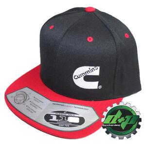 Dodge Cummins trucker hat ball cap red flat bill snapback black cummings flexfit