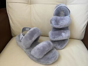 UGG Fluff Yeah grey slippers, UK size 6 , EUR Size 39