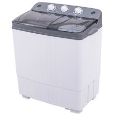 Portable Mini Compact Twin Tub 16Lbs Total Washing Machine Washer Spain Spinner