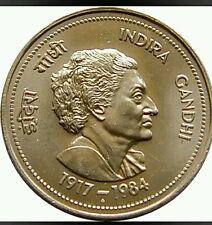 5 / FIVE RUPEE INDIRA  GANDHI BIG COIN IN FINE CONDITION - INDIA