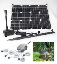 50 W Solar Pumpe + Teichbelüfter Tauch Gartenteich Teich Belüftung Sauerstoff **