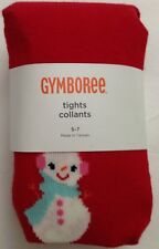 NWT Gymboree Cozy Cutie Red Snowman Christmas  Tighs Size 5-7