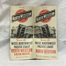 Vintage Chicago North Western Line Railway Union Pacific Vacation Lands Souvenir