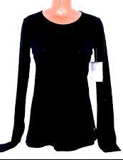 New Women's DRI-FIT NIKE Long Sleeve Training Running Base Layer Black Medium