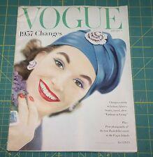 January Vogue 1957 Rare Vintage Vanity Fair Fashion Design Collection Magazine