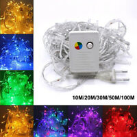 100 LED Christmas Tree Fairy String 110V/220V Party Lights Waterproof Color Lamp