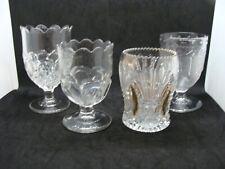 EAPG   4 Pattern Glass Spooners