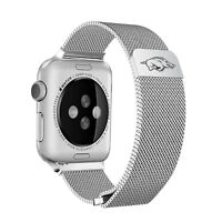 Arkansas Razorbacks Stainless Steel Mesh Band Compatible with Apple Watch