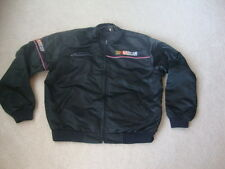 Vintage Nascar Black Satin Racing hot rod Jacket L
