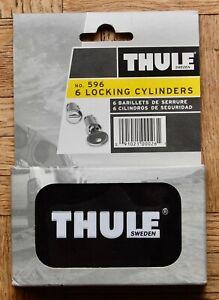 NEW SEALED Thule 596 6 Lock set of matching cylinders & keys
