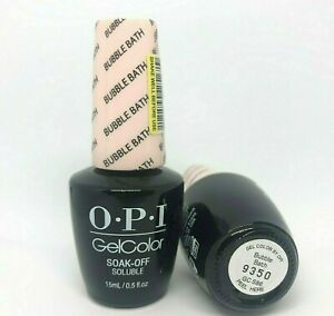 OPI GelColor GC S86 BUBBLE BATH Gel Nail Soak Off Pink French Manicure .5oz/15ml