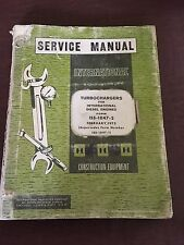 INTERNATIONAL NISSAN TURBOCHARGER DIESEL ENGINE SERVICE MANUAL