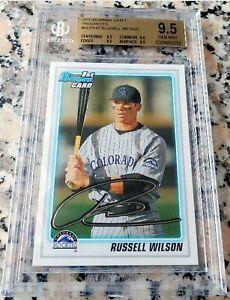 RUSSELL WILSON 2010 Bowman 1st TRUE Rookie Card RC BGS 9.5 GEM MINT Seahawks $$$
