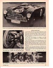 1952 ASTON MARTIN DB3 ~ ORIGINAL 2-PAGE ARTICLE / AD