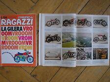CORRIERE DEI RAGAZZI 1975 CON STORIA MOTO GILERA SATURNO 150 SV ARCORE 50 RS 6V