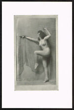 1910s Antique Nude Dancer Arnold Genthe Pictorialist Dance Photo Print