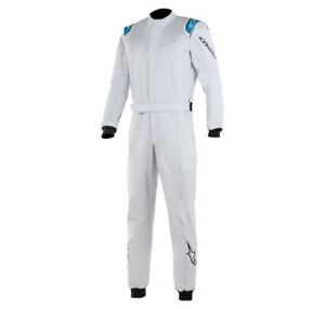 Alpinestars Stratos Race Suit FIA 2-Layer Racesuit Rally - All Sizes SILVER/BLUE