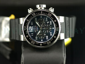 Invicta PRO DIVER Chronograph Silver Blue Black Dial OCEAN VOYAGE SS Men Watch