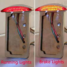 Side Mount Motorcycle License Plate Bracket with Brake LED Tail Light Universal