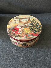 "Christmas Tin Decorative - Medium 9"" x 3.5"""