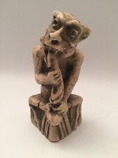 Vintage 1960s Gothic Cast Stone GARGOYLE with Edible Sea Creature