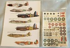 ESCI 1/72 decals Arab - Israeli Wars - options for 7 aircraft + Hobby-time P-51D