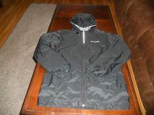 Columbia boys coat size L large 14 / 16 Mint cond lightweight hood black