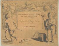 ENGEL Orig Hollstein / Nicolaus  Visscher Kupferstich um 1650 alte Kinderspiele