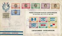 guatemala 1938 central america registered multi stamp & sheet cover ref r11761