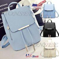 2018 Fashion Women's Girls Leather Travel Shoulder Backpack School Rucksack Bags