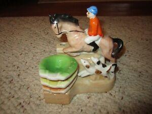 Vintage Horse Jockey Cigarette Holder & Ashtrays!!!