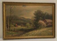 "Vintage Robert Wood ""Early Spring"" Mid Century Litho Art Print  19.5"" x 13.5"""