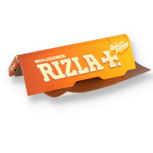 1//5/10/20/50/100 Rizla Liquorice Regular Orange Size Rolling Papers - Free Del