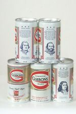 5 Diff. Gibbons Beer Can