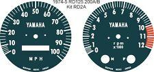 AIR COOLED RD125 RD200 RD250 RD400 SPEEDO TACHO REV COUNTER GAUGE OVERLAYS