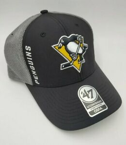 Pittsburgh Penguins hat cap new nwt NHL '47 Brand one size fits all black logo