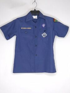 Boy Scouts Of America Boys Youth Med Navy Blue Uniform Middle Tennessee Council