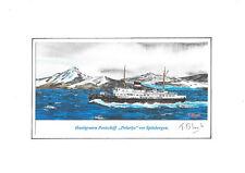 """KUNSTDRUCK - Hurtigruten Postschiff """"Polarlys"""" vor Spitzbergen."""