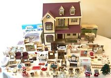 Sylvanian Families Bundle Oakwood Manor (House on Hill) 11 Figures