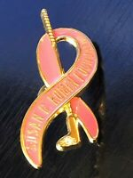 Collectible Vintage Susan G. Komen Golf Bling Metal Pinback Lapel Pin Hat Pin