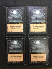 MTG Magic the Gathering - Bad Moon X4 - Beta - VG - SIGNED - Jesper Myrfors