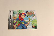 Nintendo Gameboy Advance - Juka and Monophonic Menace  -Instructions Manual