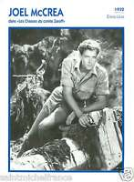 JOEL McCREA ACTEUR ACTOR FICHE CINEMA USA 90s