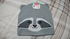 Childrens Racoon Winter Hat Snow cute