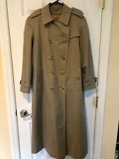 Burberrys London Women's Trench Coat Novacheck 6 Long Zip Out Liner