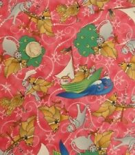 The OWL & PUSSYCAT Boats Water Wave Pink Cotton Fabric YARD
