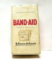 Band-Aid Johnson & Johnson Cardboard Box Vtg w/ 4 Original Bandages Contents (K2