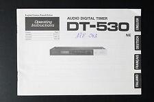 Pioneer dt-530 Original mode d'em Ploi / User / Propriétaire`s manuelle
