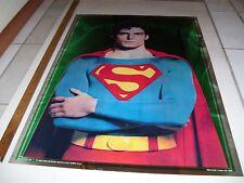 SUPERMAN CHRISTOPHER REEVE VINTAGE POSTER REFLECTIVE
