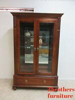 Ethan Allen British Classics Curio Crystal Cabinet China Hutch Display 260 C